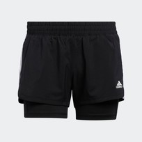 Шорты женские Adidas PACER 3-STRIPES WOVEN TWO-IN-ONE